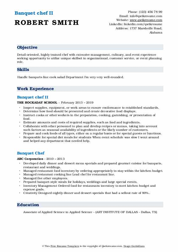 banquet chef resume samples qwikresume sample pdf strong titles template for internship Resume Banquet Chef Resume Sample
