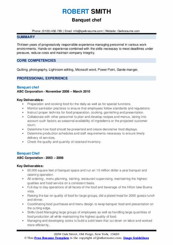 banquet chef resume samples qwikresume sample pdf template for internship engineering Resume Banquet Chef Resume Sample