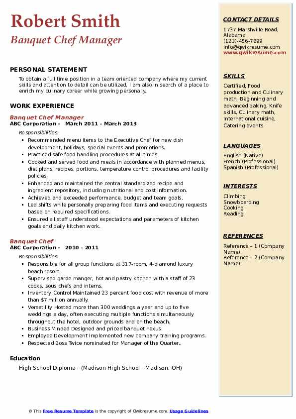 banquet chef resume samples qwikresume sample pdf the best finance professional lawn care Resume Banquet Chef Resume Sample