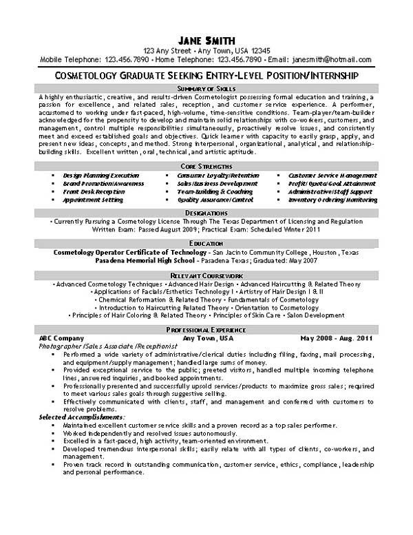 beautician cosmetologist esthetician resume examples job template samples just out of Resume Cosmetologist Resume Samples Just Out Of School
