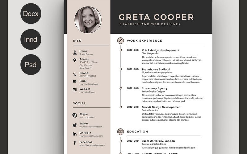 best cv resume templates indesign template creative free examples amazing objective for Resume Best Resume Examples Free