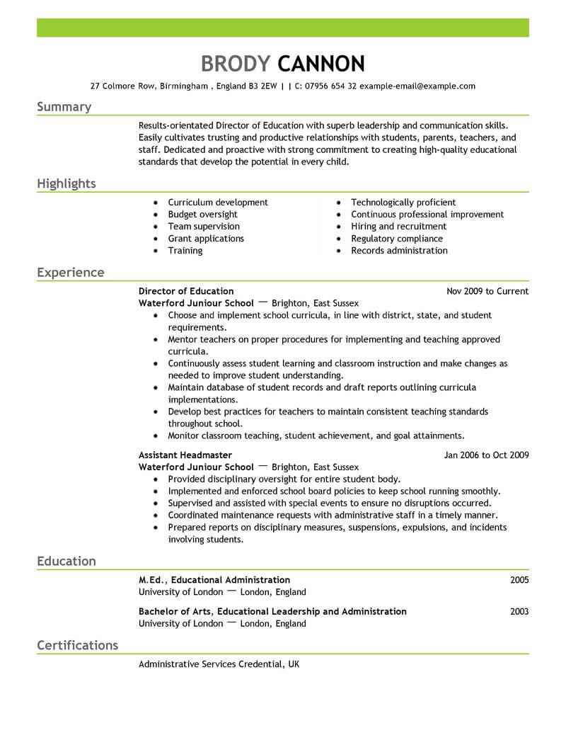 best director resume example livecareer strong summary for education emphasis kubernetes Resume Strong Summary For Resume