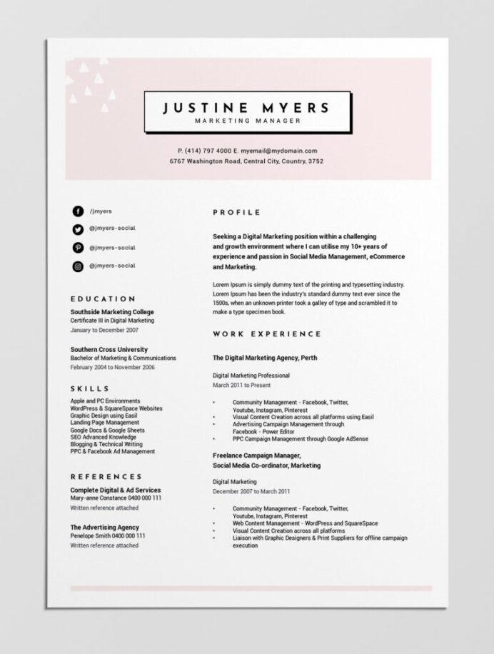 best free resume templates tips on to stand out easil marketing personal brand template Resume Marketing Resume Templates Free