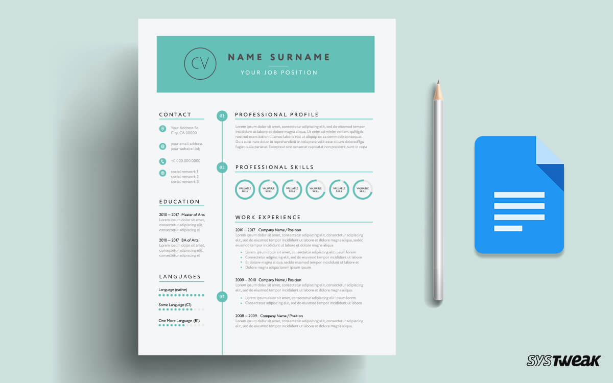 best google docs resume templates and to use them does have template sample of english Resume Does Google Docs Have A Resume Template