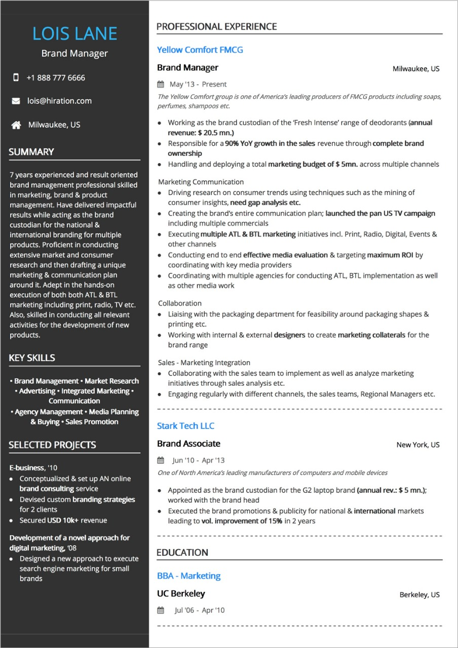 best resume layout guide with examples and samples two column template etl testing years Resume Two Column Resume Template