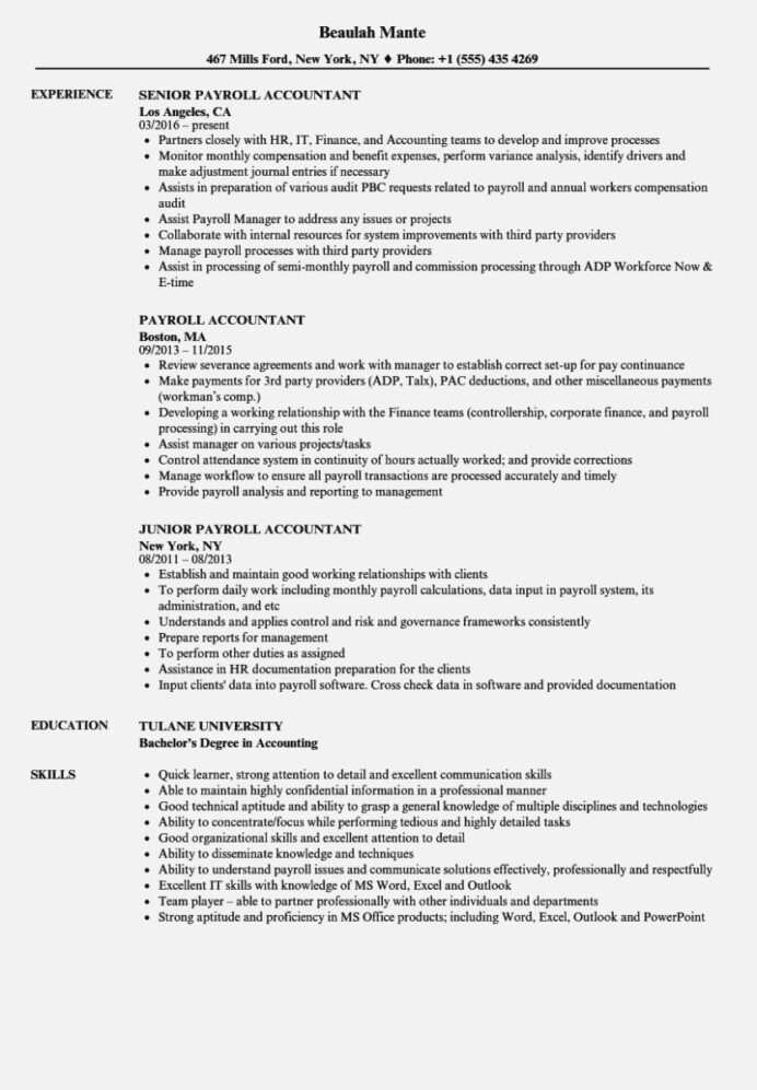 best resume templates word payroll specialist example for hospital job entry level rn Resume Payroll Duties And Responsibilities Resume
