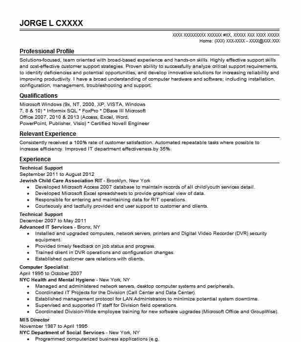 best technical support resume example livecareer broad experience dtp nice format Resume Broad Experience Resume