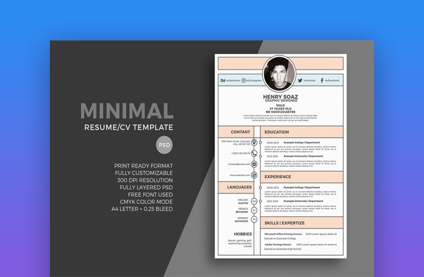 best web graphic designer resume cv templates examples for template envato social justice Resume Graphic Designer Resume Template