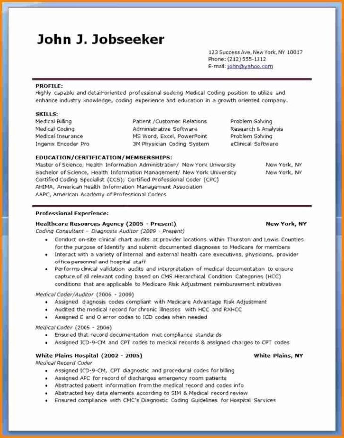 billing and coding resume new sample for medical specialist jobs objective statement Resume Billing And Coding Resume