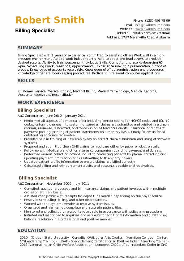 billing specialist resume samples qwikresume medical pdf healthcare product manager csm Resume Medical Billing Specialist Resume