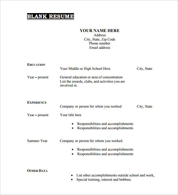 blank resume templates pdf free premium template printable format technical account Resume Pdf Blank Resume Template