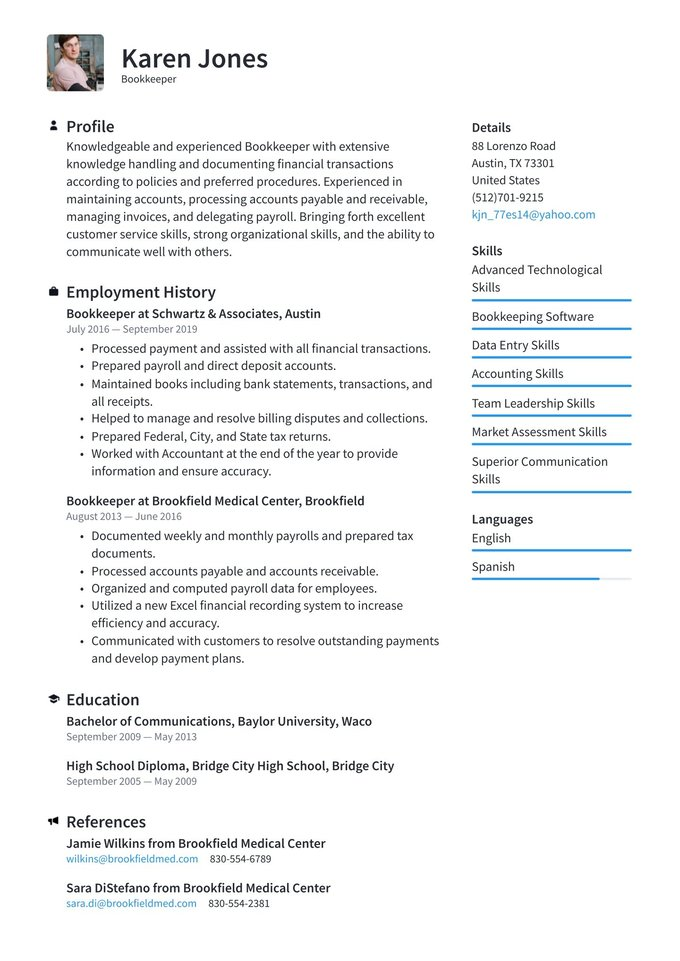 bookkeeper resume examples writing tips free guide job description for star statement Resume Bookkeeper Job Description For Resume