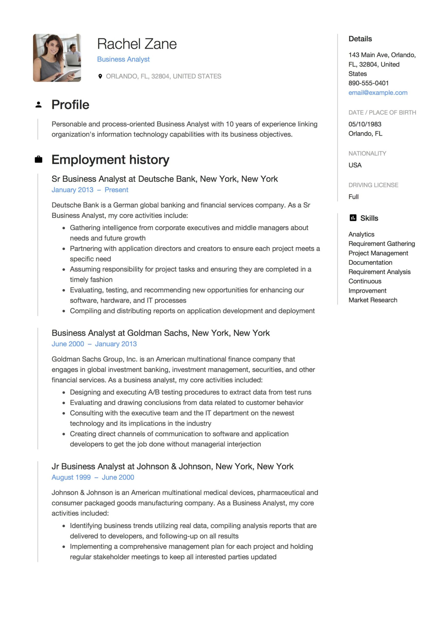 business analyst resume guide templates pdf free downloads simple for job federal big Resume Business Analyst Resume 2020