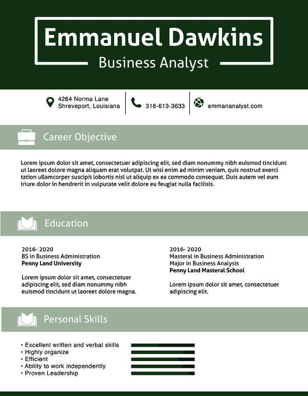 business analyst resume template free samples examples format premium templates leaf Resume Business Analyst Resume 2020