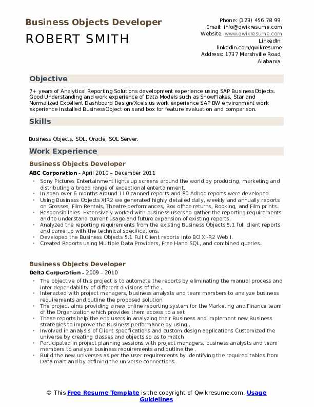 business objects developer resume samples qwikresume sap pdf assistant chef job Resume Sap Business Objects Resume