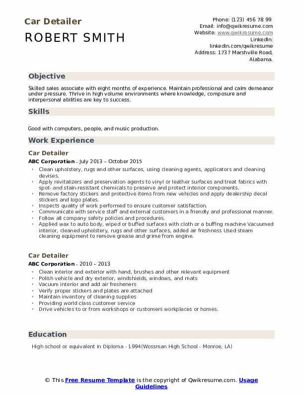 car detailer resume samples qwikresume statements examples pdf honors and awards on Resume Car Statements Resume Examples