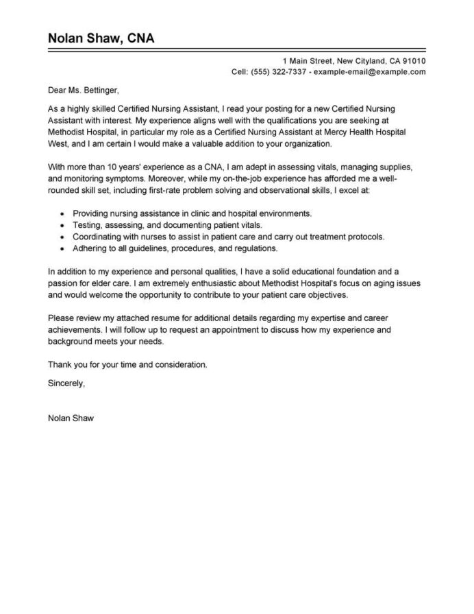 certified nursing assistant cover letter example resume objective clnursing aide Resume Certified Nursing Assistant Resume Objective