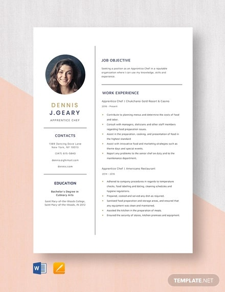 chef resume templates word pdf google docs free premium template apprentice sharepoint Resume Google Docs Resume Template Free Download