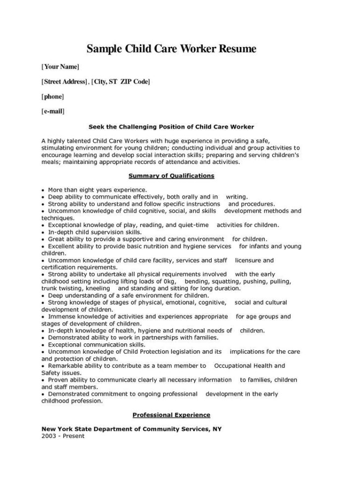 child care resume sample job samples skills cover letter for best technical examples dsp Resume Daycare Resume Objective