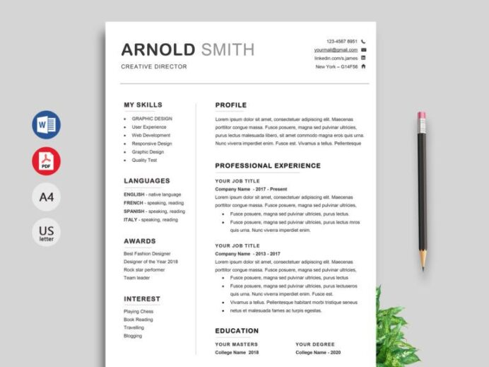 classic cv template word resumekraft in free downloadable resume templates fo graphic Resume Free Graphic Design Resume Template Word