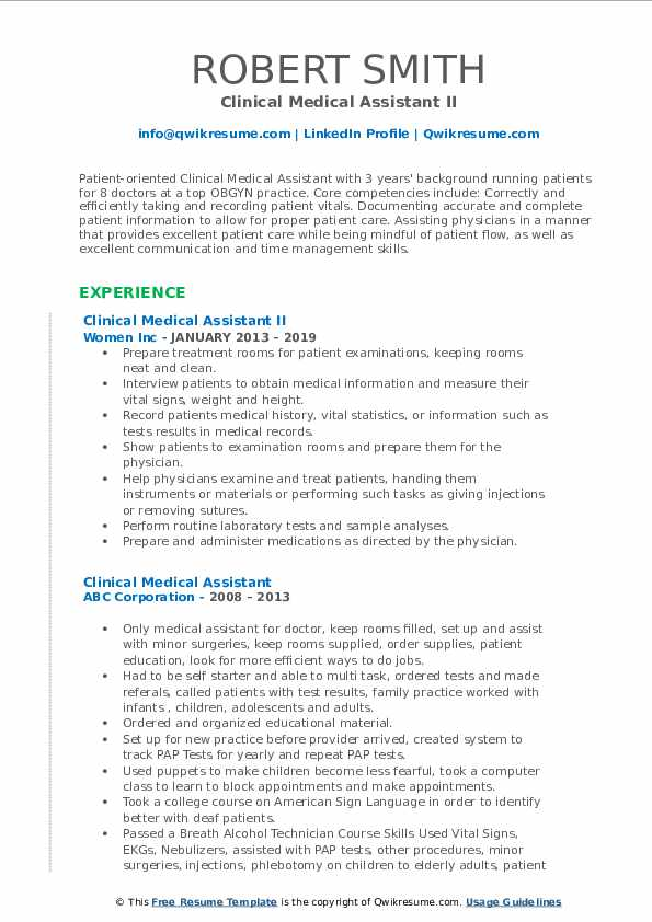 clinical medical assistant resume samples qwikresume entry level pdf objective on for Resume Entry Level Medical Assistant Resume