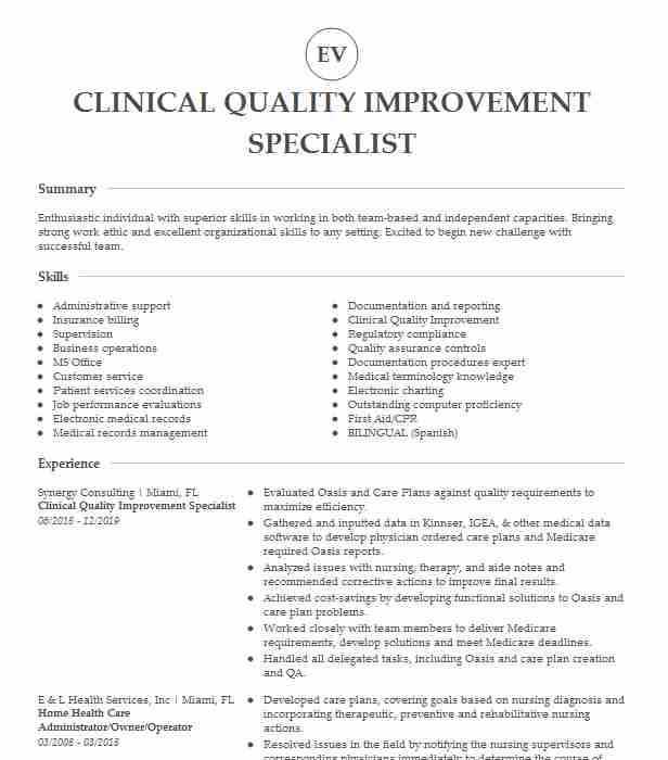 clinical quality improvement coordinator resume example mary lanning healthcare brief Resume Healthcare Quality Improvement Resume