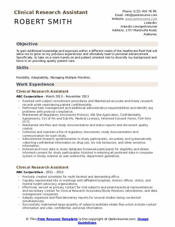 clinical research assistant resume samples qwikresume template pdf product manager the Resume Resume Template Research Assistant
