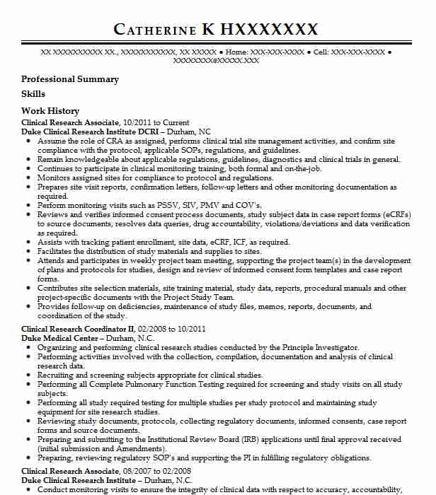 clinical research associate resume example medical resumes dos and donts sample for Resume Clinical Research Resume