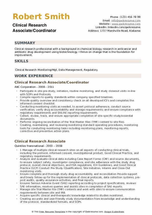clinical research associate resume samples qwikresume pdf car salesman skills for Resume Research Associate Resume