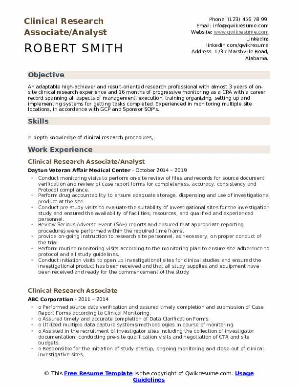 clinical research associate resume samples qwikresume pdf examples for resident assistant Resume Research Associate Resume