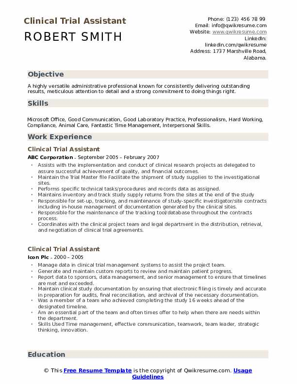 clinical trial assistant resume samples qwikresume research pdf dos and donts free Resume Clinical Research Resume