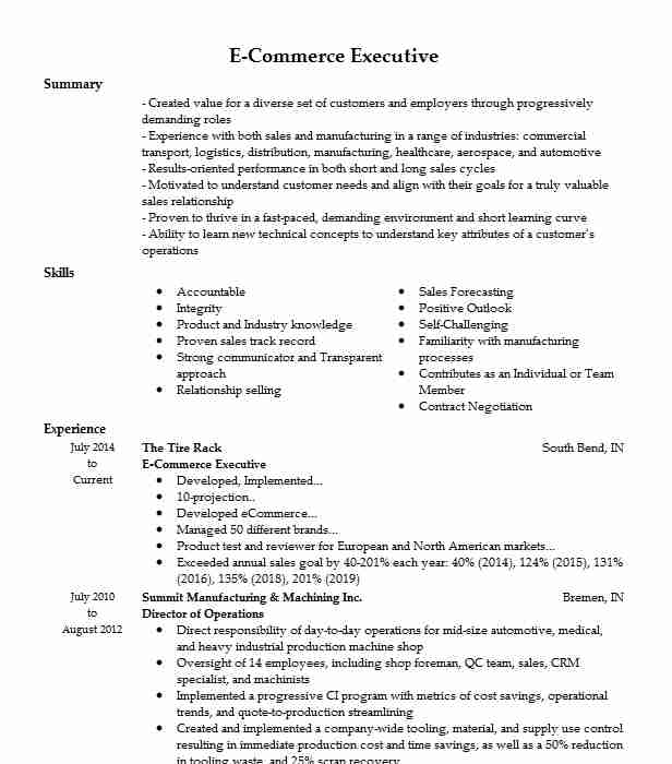 commerce executive resume example braman motors ecommerce description for construction Resume Ecommerce Description For Resume