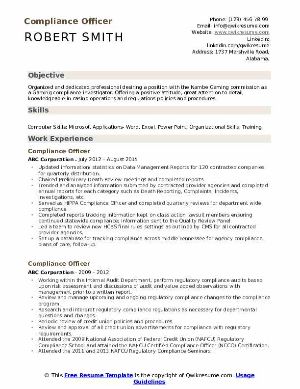 compliance officer resume samples qwikresume template pdf standard for electronics and Resume Compliance Officer Resume Template