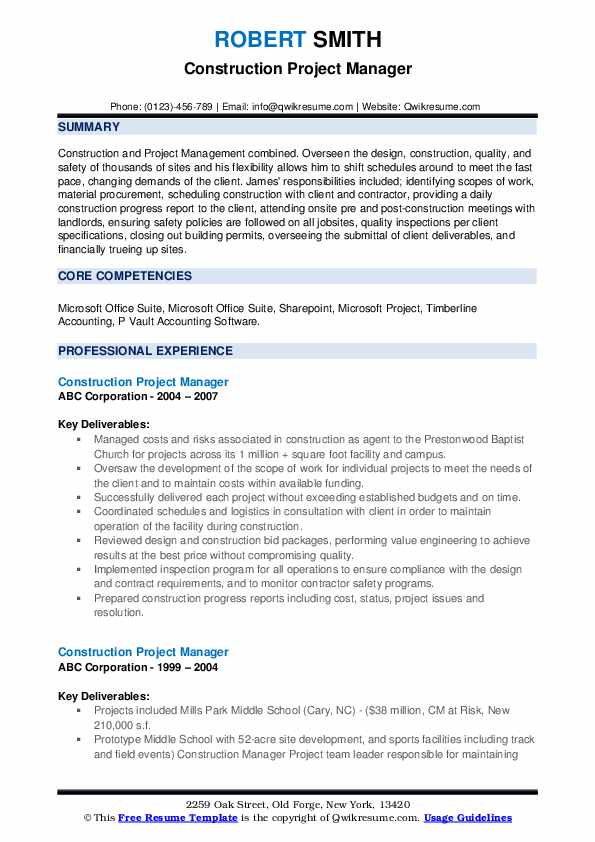 construction project manager resume samples qwikresume residential pdf sample teen city Resume Residential Construction Project Manager Resume