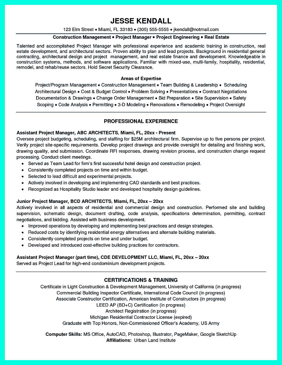 construction project manager resume template line 17qq residential caueeruax truck driver Resume Residential Construction Project Manager Resume
