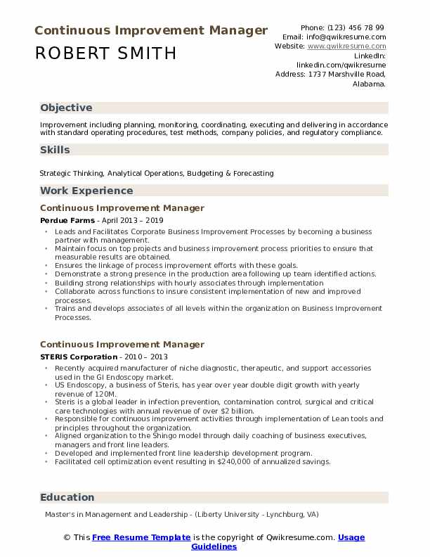 continuous improvement manager resume samples qwikresume process pdf layout sample Resume Business Process Management Resume Examples