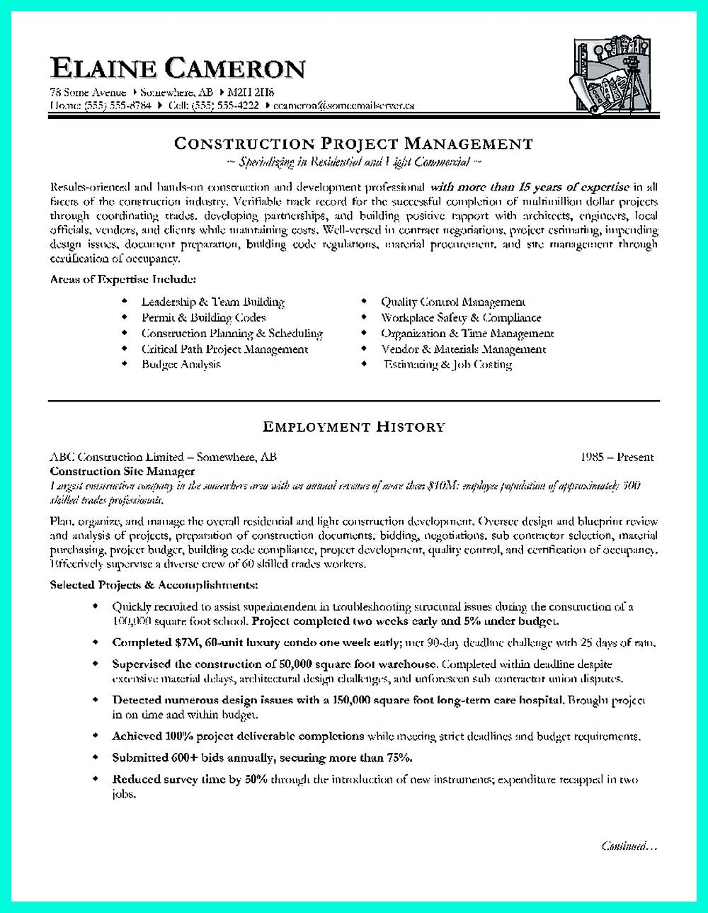 cool construction project manager resume to get applied pdf residential closing Resume Residential Construction Project Manager Resume