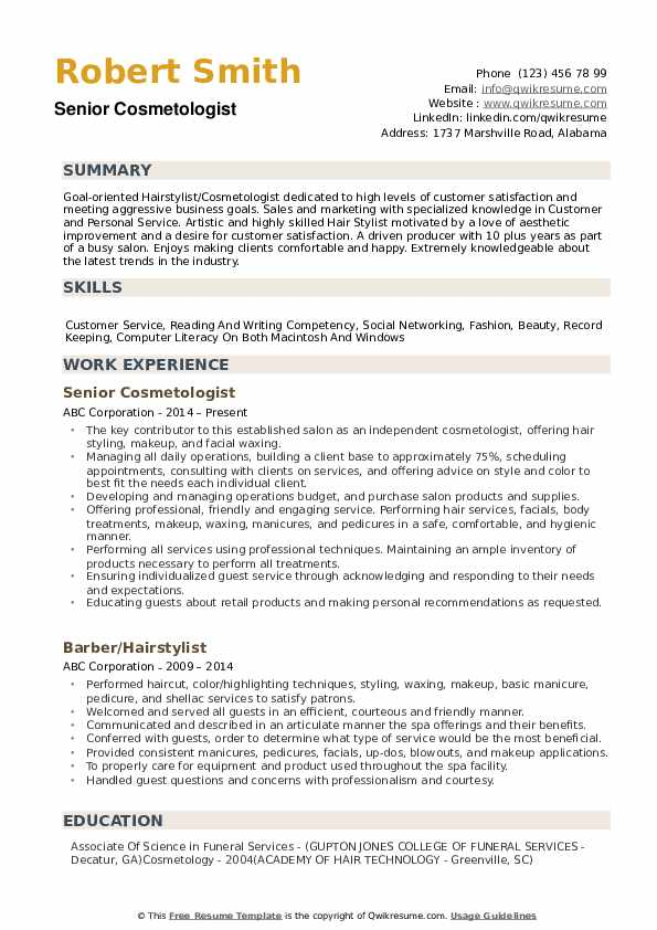 cosmetologist resume samples qwikresume just out of school pdf for scientist summary hard Resume Cosmetologist Resume Samples Just Out Of School