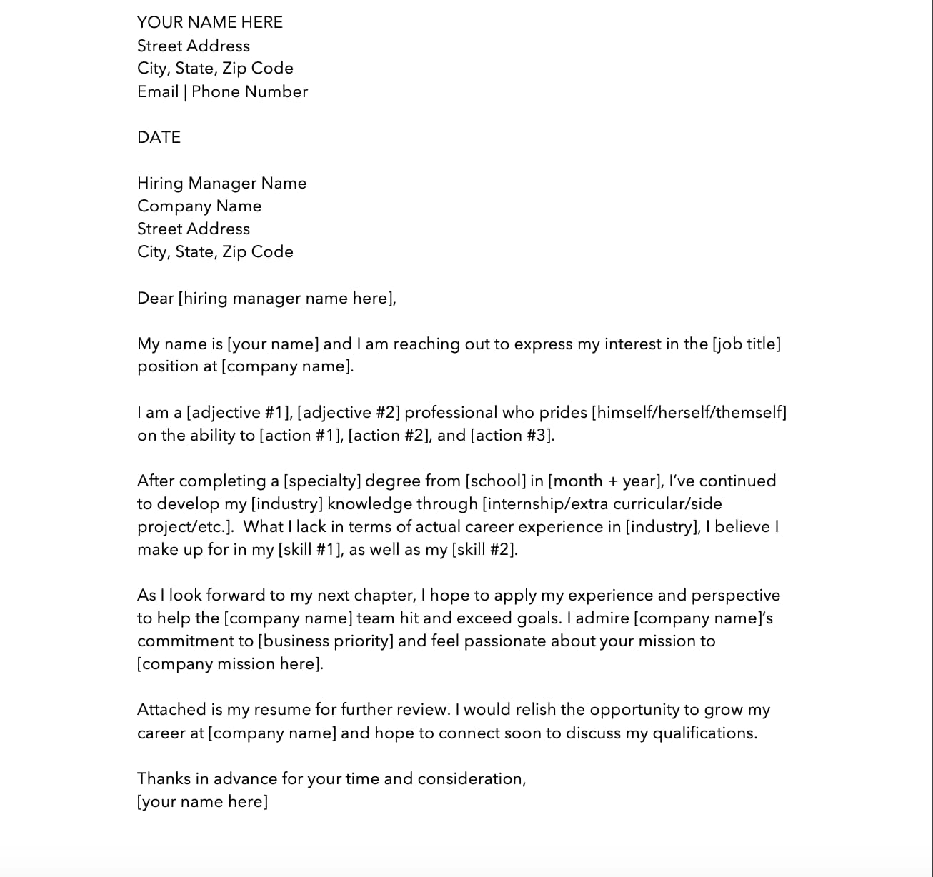 cover letter templates to perfect your next job application for resume entry level Resume Job Application Cover Letter For Resume