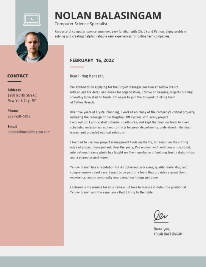 creative cover letter templates to impress employers venngage resume template simple Resume Resume Cover Page Template