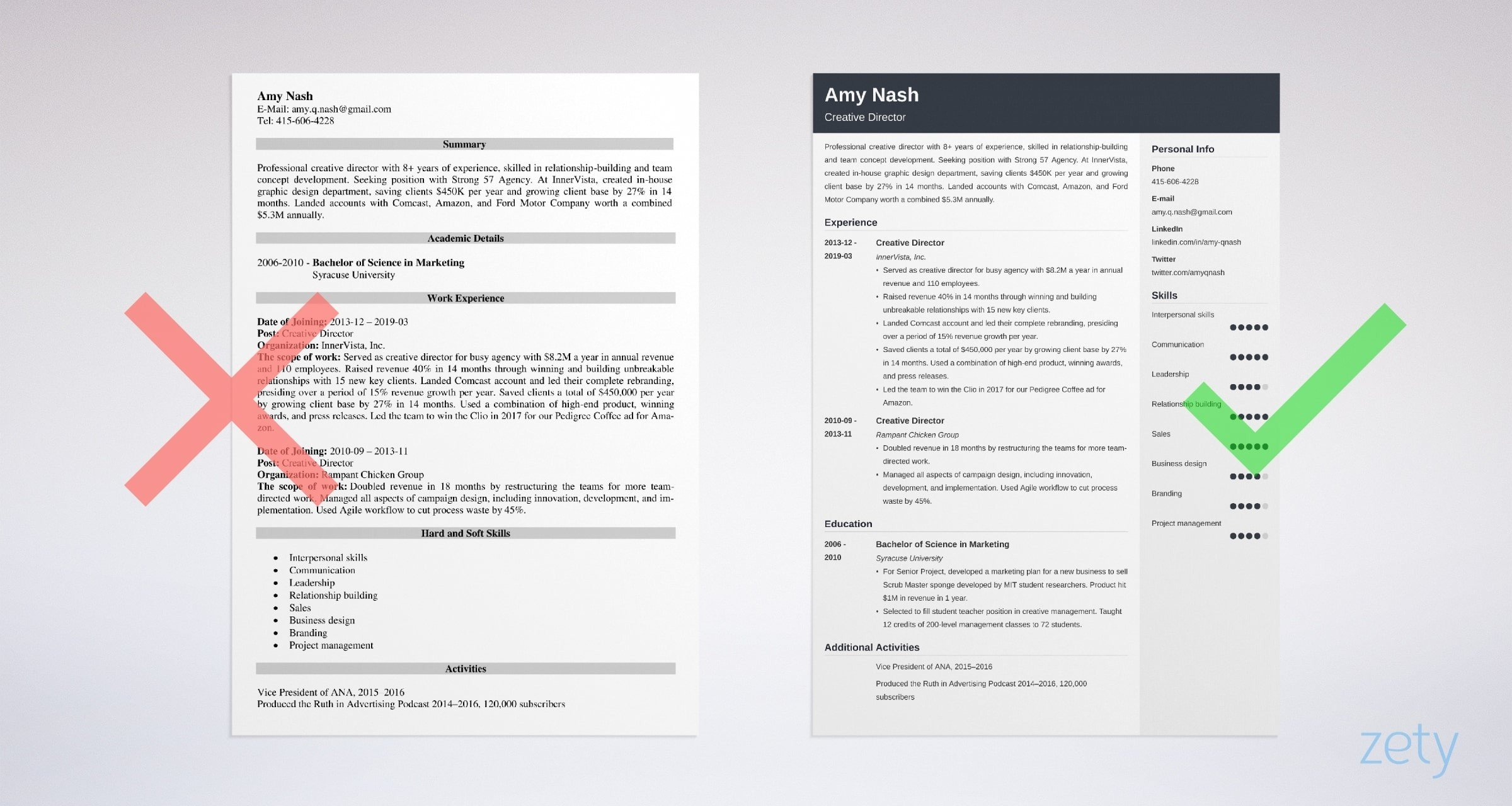 creative director resume examples with skills job description amazing example sample Resume Amazing Resume Examples