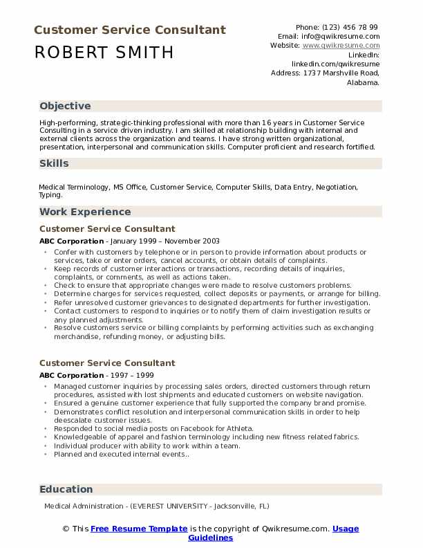 customer service consultant resume samples qwikresume professional skills for pdf hospice Resume Professional Skills For Customer Service Resume