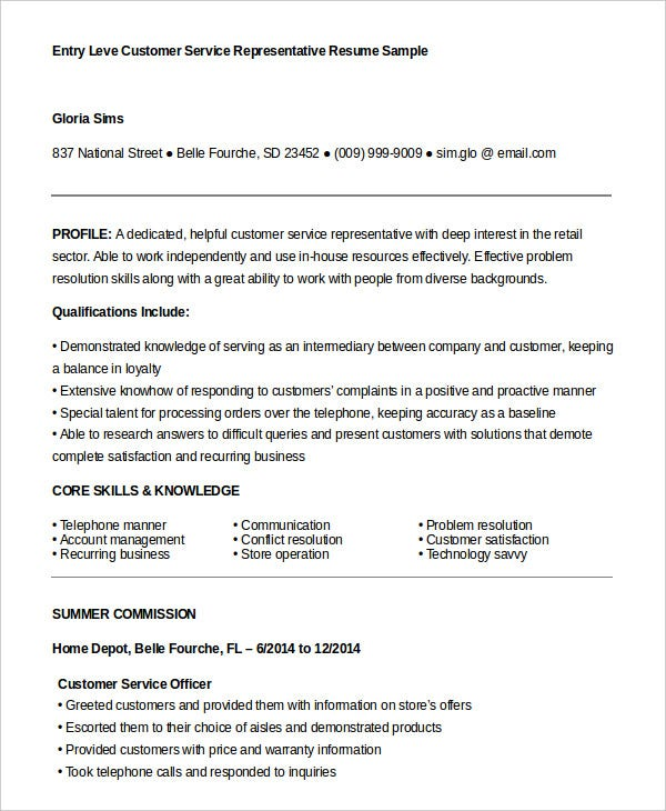 customer service representative resume free sample example format premium templates Resume Customer Service Representative Skills Resume