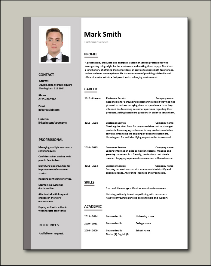 customer service resume templates skills services cv job description examples good free Resume Free Resume Services Online