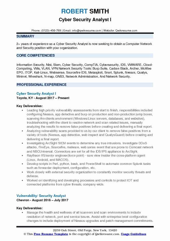cyber security resume example unique analyst samples examples entry level payroll Resume Entry Level Cyber Security Resume