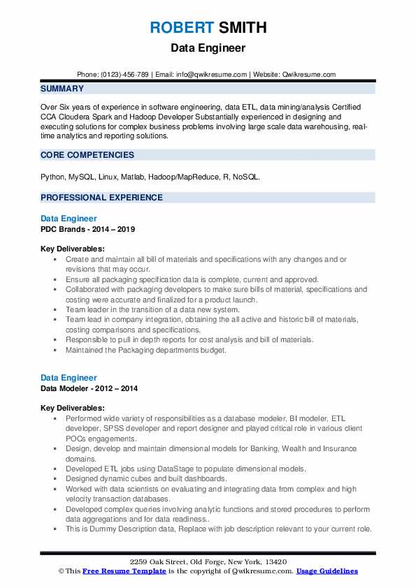 data engineer resume samples qwikresume of pdf sap security audit the best help with and Resume Resume Of Data Engineer