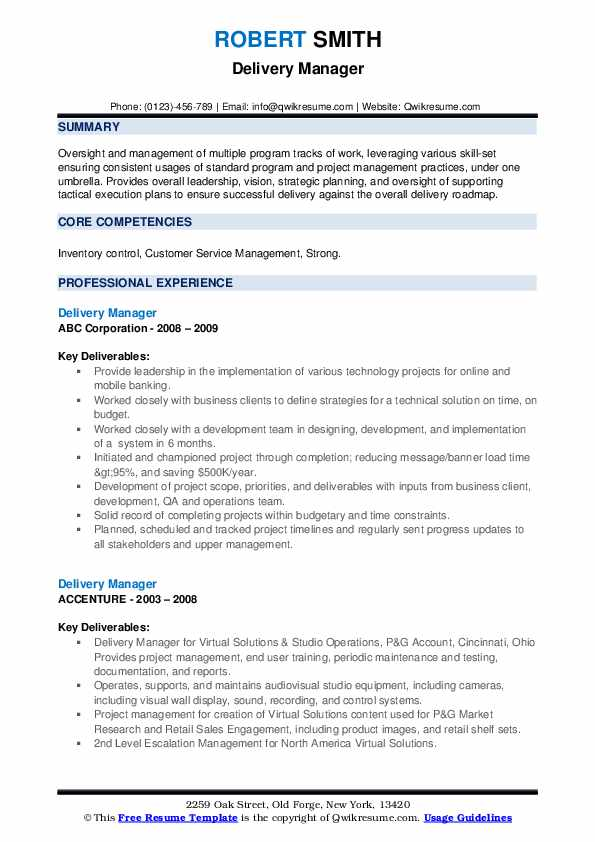 delivery manager resume samples qwikresume sap pdf housekeeping banking objective work Resume Sap Delivery Manager Resume
