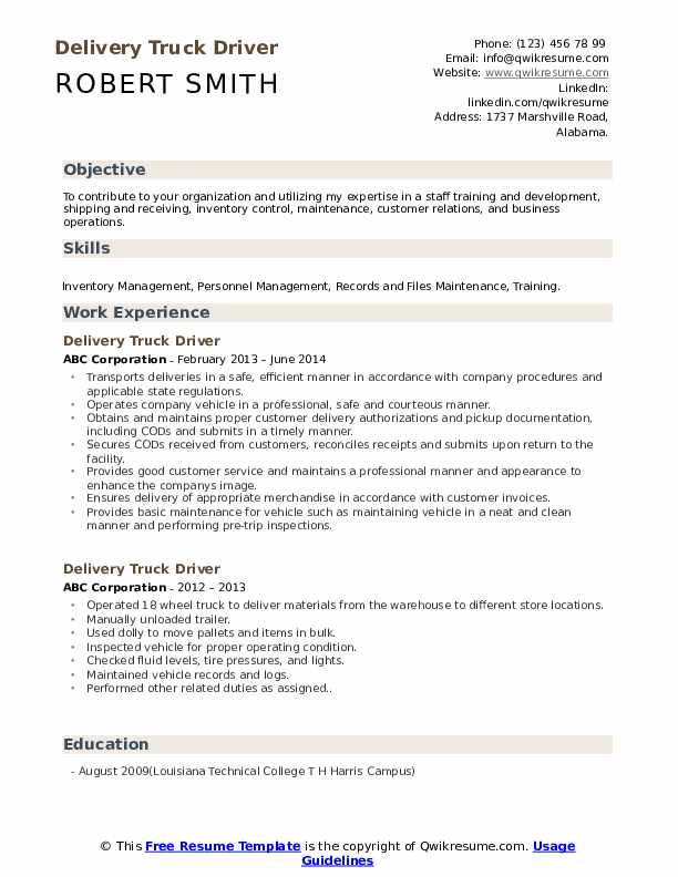 delivery truck driver resume samples qwikresume job description for pdf dentist search Resume Truck Driver Job Description For Resume