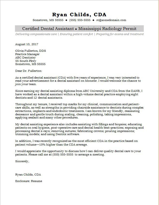 dental assistant cover letter sample monster pediatric resume another word for passionate Resume Pediatric Dental Assistant Resume