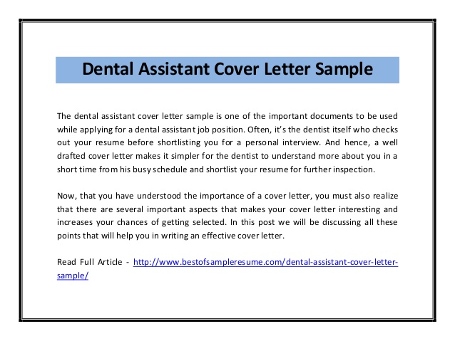 dental assistant cover letter sample pdf resume and accounting finance examples for Resume Dental Assistant Resume And Cover Letter